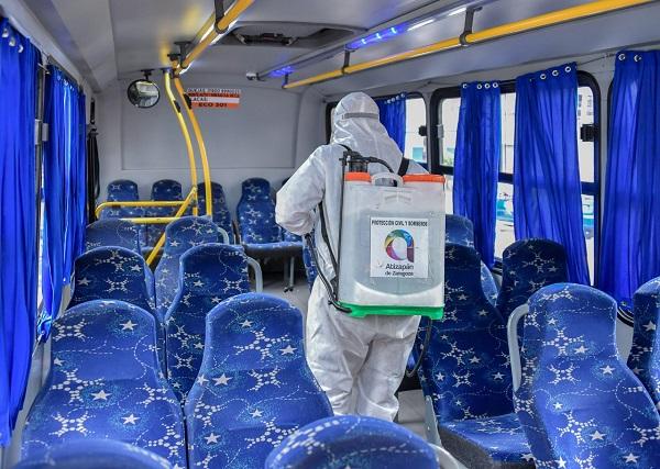 Inicia Atizapán Ruta de la Sanitización en transporte público