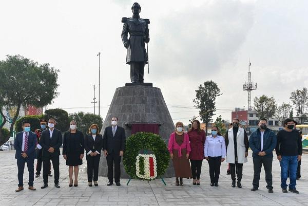 Ruth Olvera develó placa conmemorativa del 158 aniversario luctuoso del General Ignacio Zaragoza
