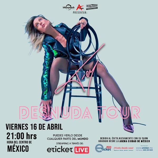 """Fey, la diva y reina del electropop latino """"se desnuda"""" para festejar 26 años de carrera"""
