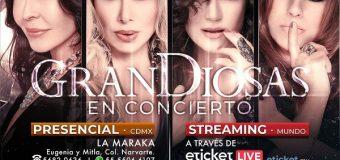 Show GranDiosas en vivo 'Salón La Maraka' 27 de marzo; vía streaming por 'Eticket' el10 de abril