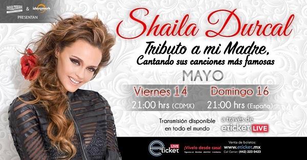 Shaila Dúrcal, realiza homenaje a su madre con talento heredado en show on line en 14 de mayo