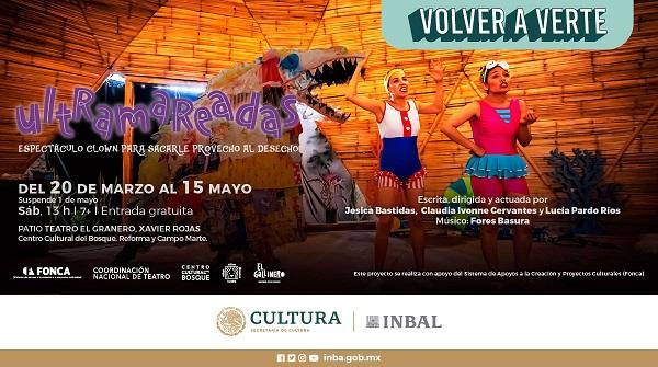 El patio del Teatro El Granero Xavier Rojas recibe a Ultramareadas, espectáculo para niñas y niños