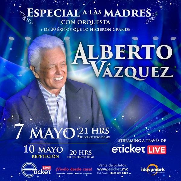 Alberto Vázquez ofrecerá concierto virtual con orquesta para festejar a las madres