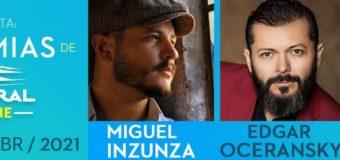 Miguel Inzunza, Edgar Oceransky y Ale Zéguer, en la Bohemia de El Cantoral on line, el 30 de abril