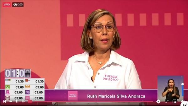 Destaca Maricela Silva en el debate entre candidatos a diputados por el Distrito 18 en el IECM