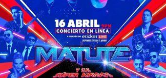 Matute en concierto de aniversario vía streaming este viernes 16 de abril; última llamada