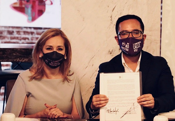 Romo suscribe Agenda de 50+1 para combatir la violencia contra las mujeres e impulsar la equidad