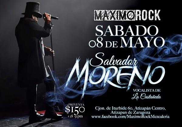 Salvador Moreno, vocalista de La Castañeda, ofrecerá concierto especial en Máximo Rock Mezcalería, en Atizapán